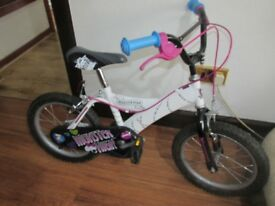 """Girls 16"""" Monster High Bike Would Suit Age 5 - 8 yrs"""