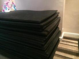 35 used Eva foam gym judo crash gymnastic mats £300 ono.