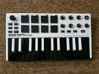 Akai MPK Mini MIDI Controller In White
