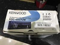 KENWOOD CAR STEREO - CD RECEIVER WITH USB INTERFACE (IE YOU CAN CONNECT YOUR IPOD TO IT)