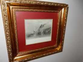 TURNER PRINT - VERY OLD - IN VERY GOOD CONDITION