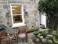 Lower one-bedroomed furnished flat in the Stockbridge Colonies. £785 pcm