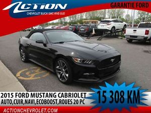 2015 Ford Mustang Convertible EcoBoost Premium,auto,navi,cuir