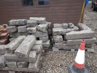 RE-CLAIMED GRANITE KERBSTONES, EDGINGS, RADIUS KERBS, IDEAL FOR A LANDSCAPING PROJECT