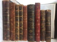 Collection Of 9 Leather Decorative Spine Books