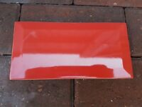 Red tiles metro style - 1 + 1/2 box approximately 25pc