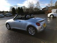 2006 DAIHATSU COPEN 0.6 MANUAL HARD TOP CONVERTIBLE 12 MONTHS MOT 91K WARRANTED MILES AC HPI CLEAR