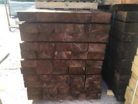 🌞 •New• Tanalised Wooden/ Timber Railway Sleepers ~ Brown