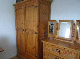 Wardrobe,chest of drawers and matching mirror