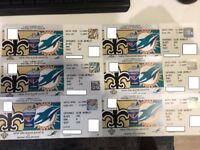 **NFL CLUB WEMBLEY PREMIUM SEATS** | NEW ORLEANS SAINTS Vs MIAMI DOLPHINS | WEMBLEY 1st OCTOBER x6