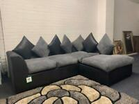 Beautiful grey & black corner sofa delivery 🚚 sofa suite couch furniture
