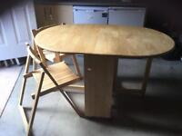 John Lewis Butterfly Drop Leaf Table with 4 Chairs