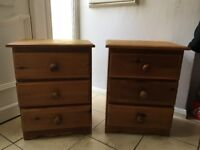 Two solid wood Bedside cabinets