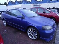 SWAP***02 plate azure blue astra bertonne 2dr coupe ltd edn looks stunning in & out drives perf motd