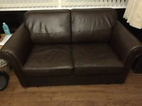 M&S leather sofa bed