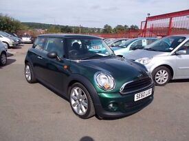 *MINI ONE 1.6*MINT CONDITION*BRITISH RACING GREEN*60 REG*6 SPEED*1 LADY OWNER*FULL YEARS MOT*£4995*