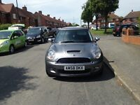 2009 58 reg Mini Cooper s Hpi clear 69k Miles grey red leathers