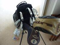 Nike golf bag, titeist irons set,cobra driver