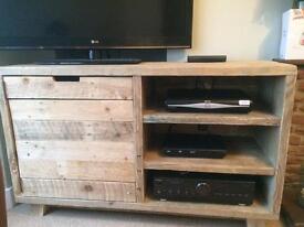 Rustic reclaimed tv unit/ cabinet