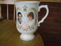 Commemorative Mug Of Prince Charles & Lady Diana Wedding