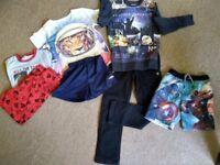 Bundle of boys clothes trousers, shorts PJ's, sweatshirt age 8, 8-9, 9