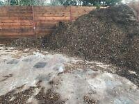 Woodchip wood chip mulch