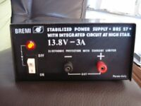 BREMI 3 AMP POWER SUPPLY WITH TEROIDAL CHOKE