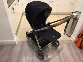 Mamas & Papas Armadillo Flip XT Pushchair (Dark Navy) + Newborn Cocoon - Excellent Condition