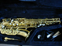 Sonata alto saxophone outfit - virtually new, gorgeous excellent starter sax, bargain price