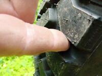 Tyres for split rim wheels