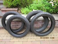 4 Motorcycle Tyres Used