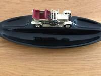 Vintage rolls Royce matchbox car with trinket dish .