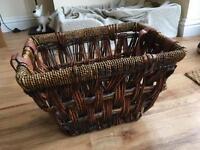 Wicker wood basket