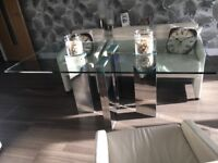 Dinning table 180cm length x90cm wide scratches on glass