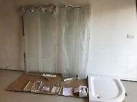 Offset Quadrant Shower Enclosure - Tray 1000x800 with Screen