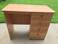 Compact study / office desks with 4 drawers - perfect for students or small offices