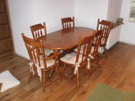 dining table extendable type 6 chairs solid wood ono