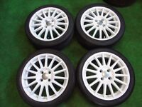 "FORD FIESTA ZETEC ST 17"" inch ALLOY WHEELS WHITE ( OUR REF 038 )"