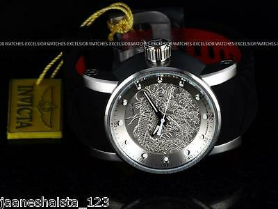 NEW Invicta Mens S1 Yakuza Dragon NH35A Automatic Silver-tone Stainless St Watch