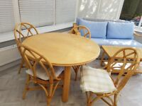 Conservatory furniture, dining table,4 chairs, coffee table, settee