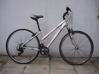 Womens Hybrid/ Commuter Bike by Apollo, Silver, Runs Great, Small Size, JUST SERVICED/ CHEAP PRICE!!