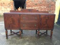 Large solid dark wood dresser