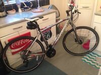 "Brand new boardman mx comp silver hybrid road bike,19"" frame,700c wheels,avid hydraulic brakes"
