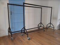 2 x 6FT Heavy Duty metal Clothes Rail with Heavy Duty Castors