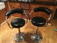 Black/ silver bar/ kitchen stools