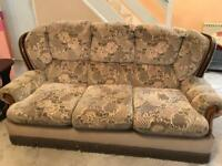 3 seater sofa and 2 arm chairs