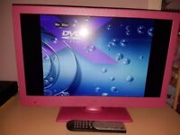 24 in pink tv with built in dvd player