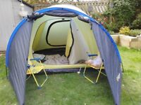 3 Man tent doors both ends very easy to erect