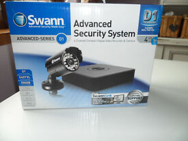 NEW Swan Surveillance Home Security System Camera CCTV DVR4-1500 Kit