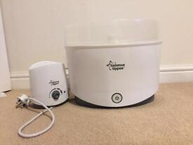 tommee tippee bottle sterilizer and bottle warmer